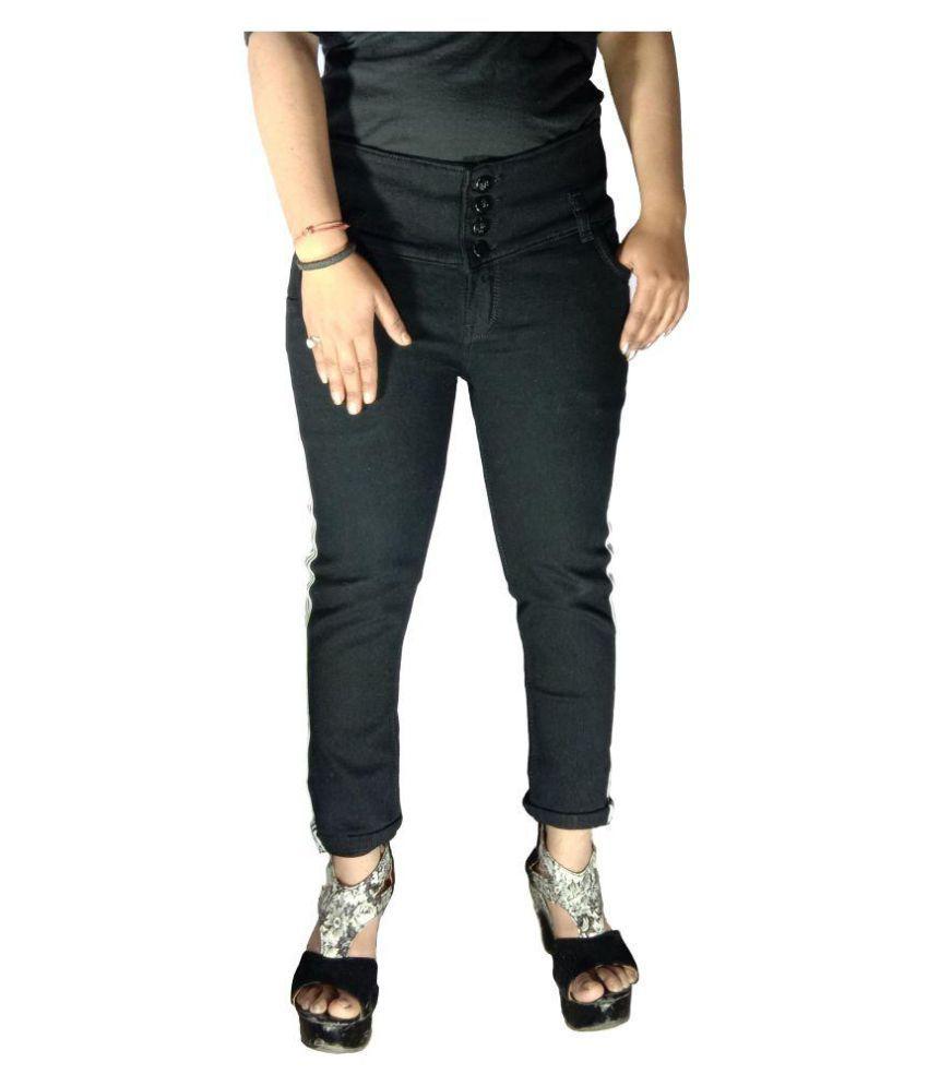 Vshort Dobby Jeans - Black