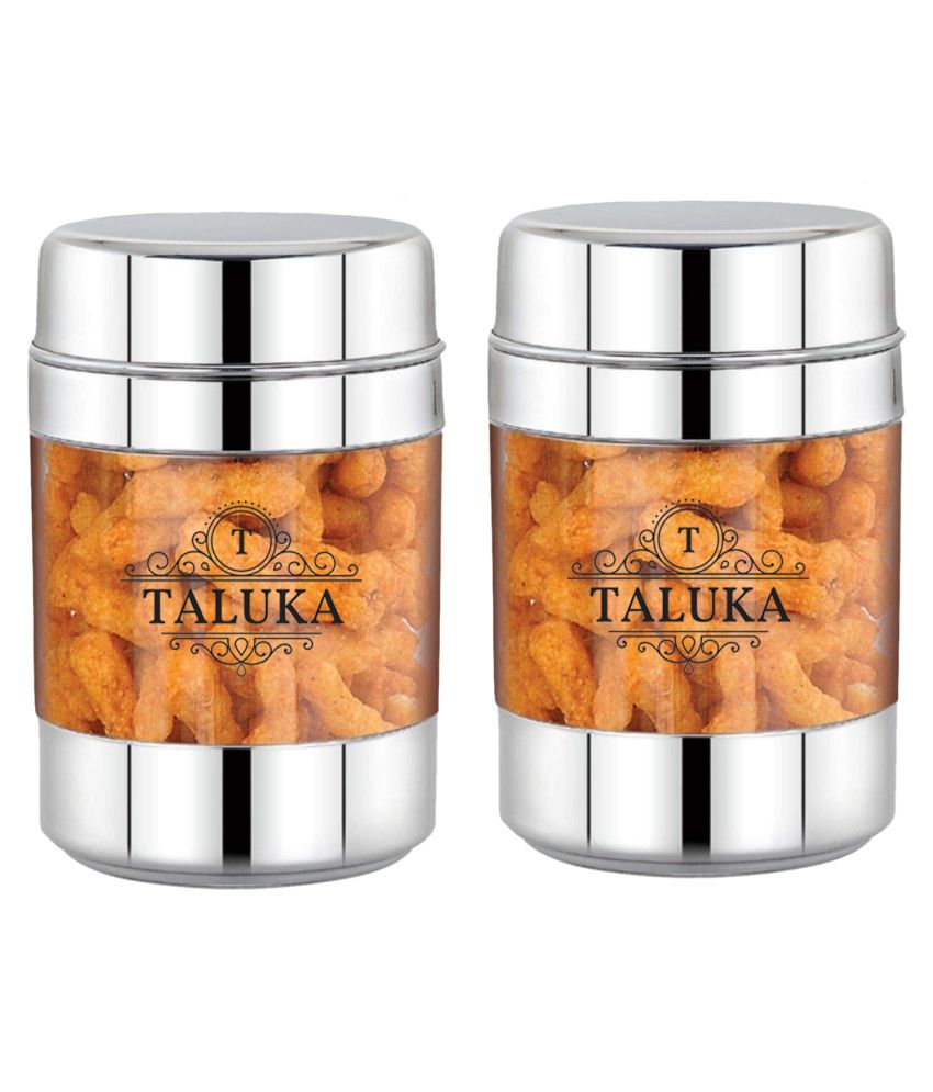 Taluka Container Canister Acrylic Tea/Coffee/Sugar Container Set of 2 3000 ml