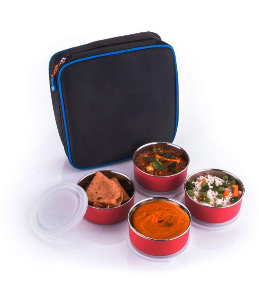 Super Classic Red Stainless Steel Lunch Box