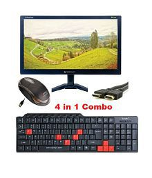 Zebronics (4 in 1 Combo) 15.6 inch (39.6 cm) Full HD LED Monitor with Wired Keyboard, Mouse & 1.5Mtr HDMI cable