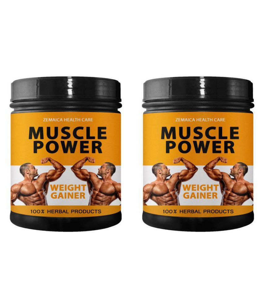 Zemaica Healthcare Muscle Power Weight Gainer Supplement Powder 1000 gm Pack Of 2