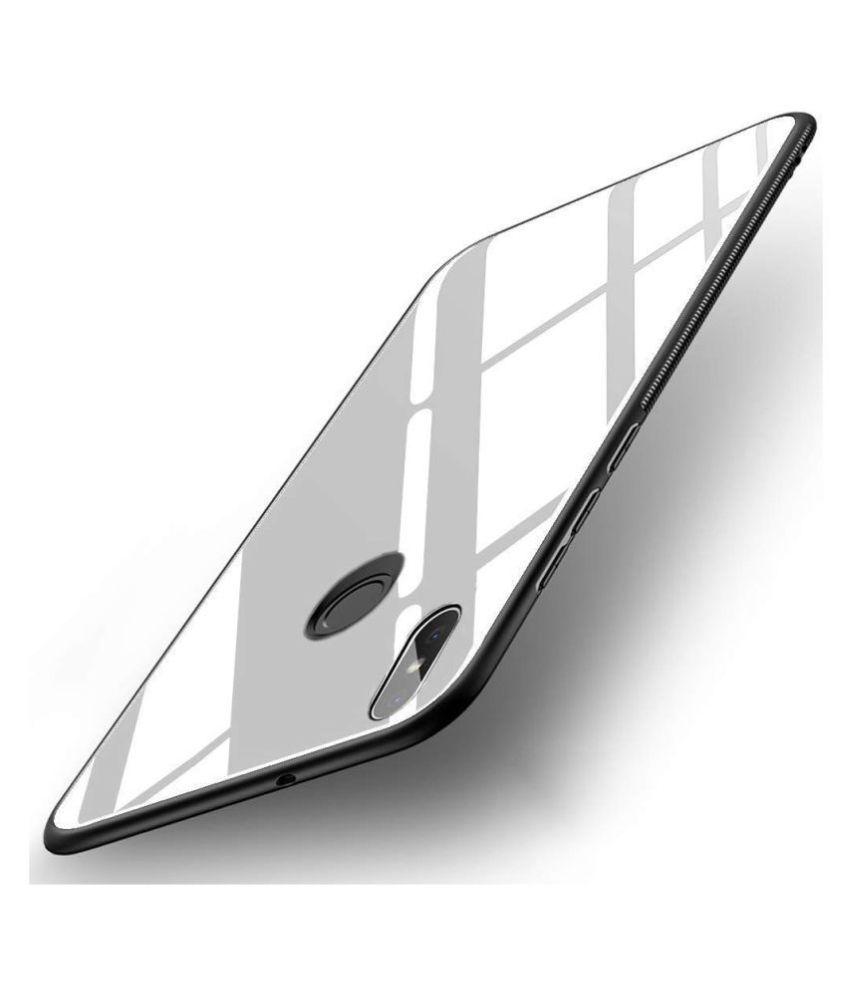 Xiaomi Redmi Y2 Mirror Back Covers KOVADO - White 360°  Luxurious Toughened Glass Back Case