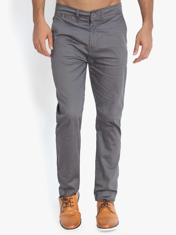 kotty Grey Slim -Fit Flat Trousers