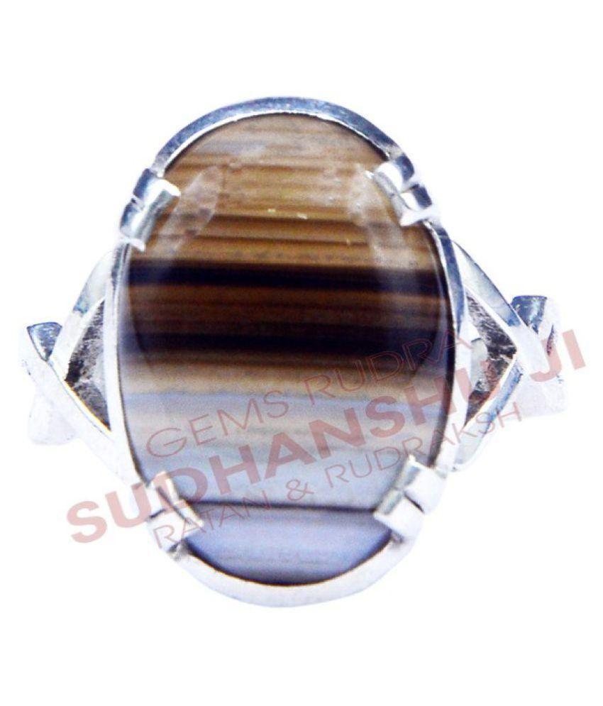sudhanshu ji ratan evam rudraksha 92.5 Silver Agate Ring