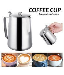600/1000/1500/2000ML Stainless Steel Milk Jug Frothing Espresso Coffee Pitcher Mug Barista Craft Coffee Latte Pitcher Cup Pot