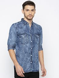 d613a0d407d09 Denim Shirt  Jeans   Denim Shirts For Men UpTo 77% OFF - Snapdeal.com