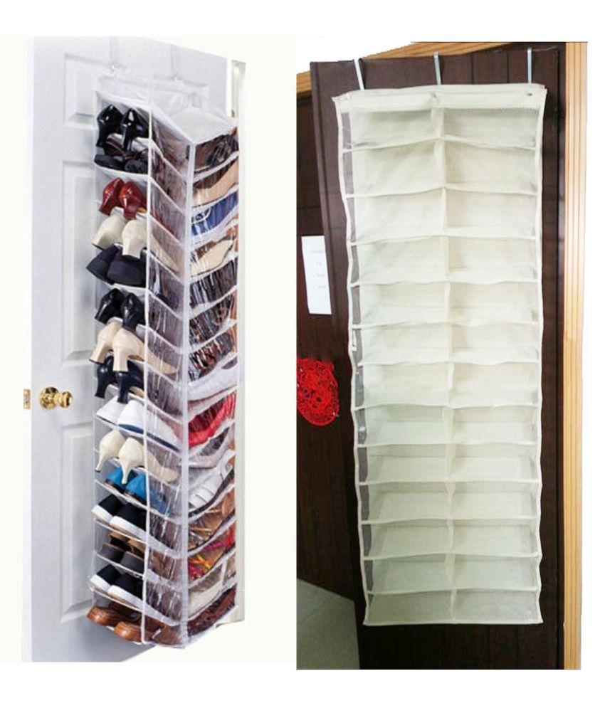 26 Pocket Door Hanging Shoe Rack Shelf Storage Saver Organiser Pocket Holder Hot