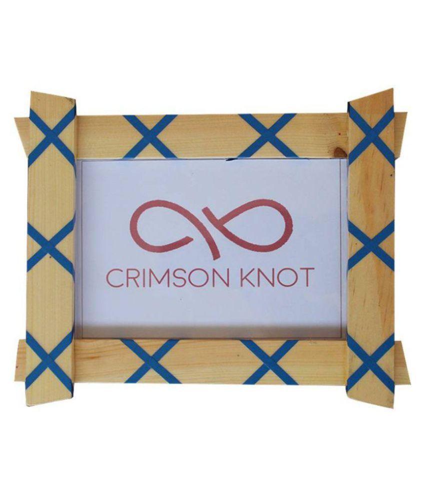 Crimson Knot Wood Blue Single Photo Frame - Pack of 1