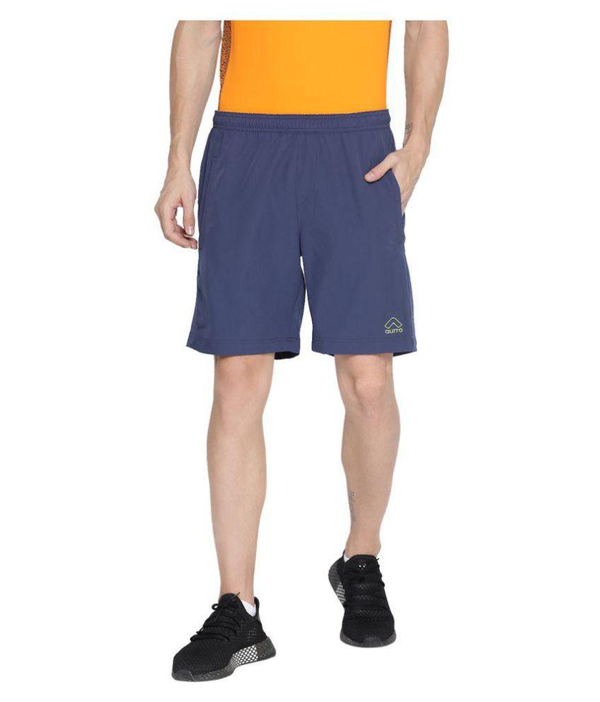 Aurro Sports Navy Shorts