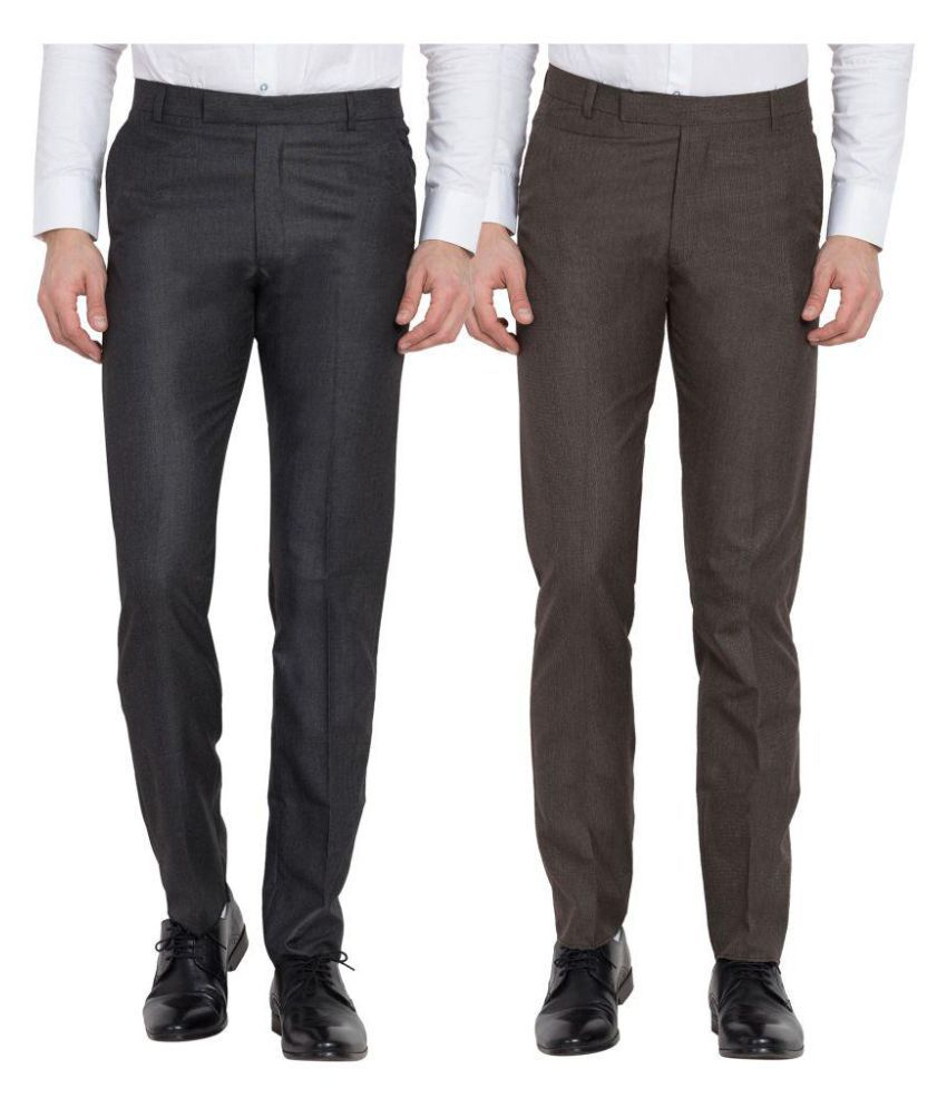 Cliths Multi Slim -Fit Flat Trousers