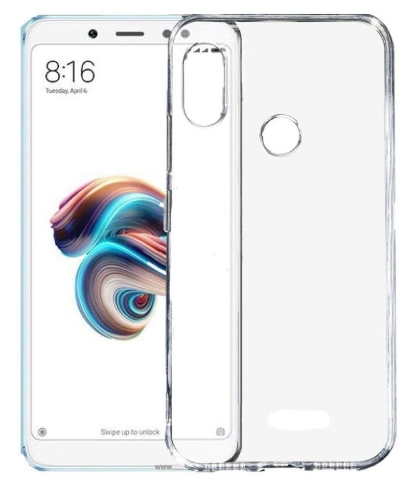 Xiaomi Redmi Note 5 pro Soft Silicone TPU Transparent Back Case Cover With Free 360 Degree Rotating Metal Ring Holder by D DESIGN