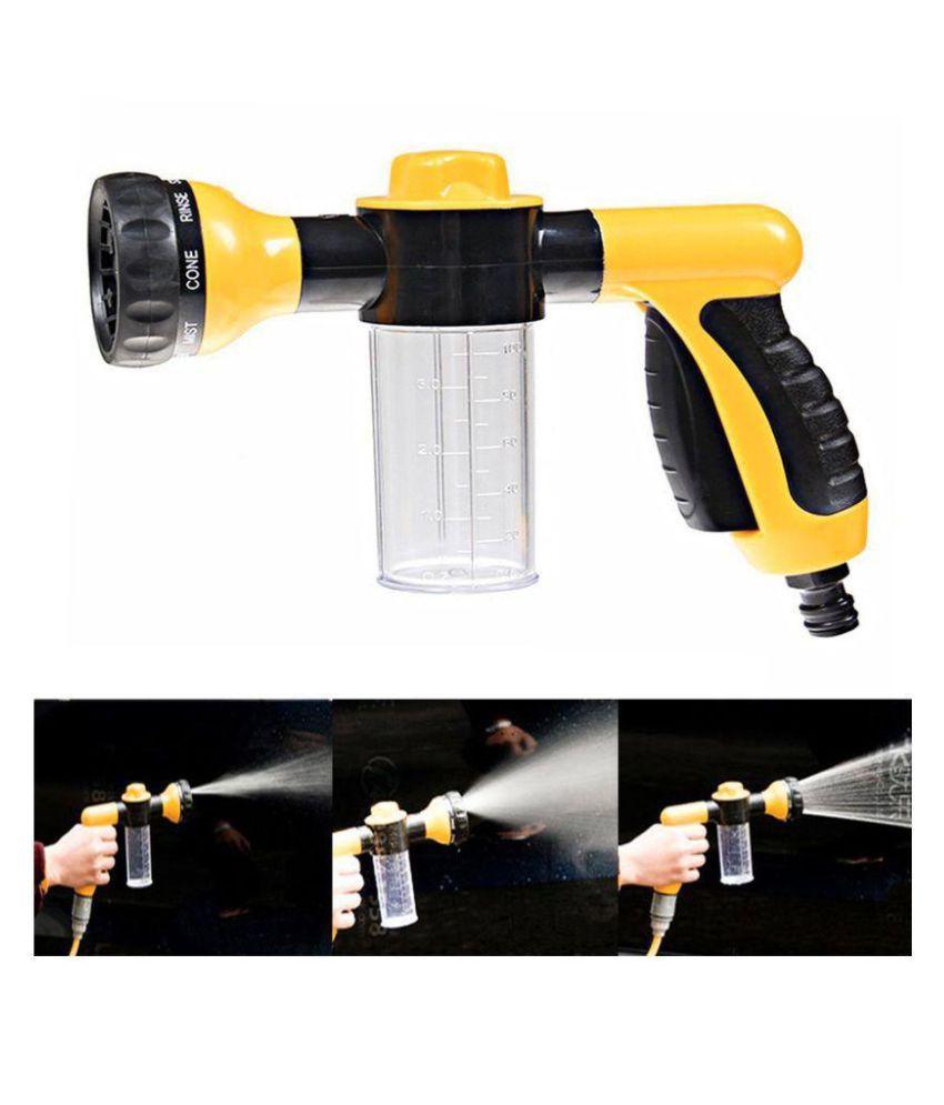 8 Pattern High Pressure Car Washing Foam Nozzle Water Spray Gun for Car, Motorcycle & Bike Cleaning Wash Machine