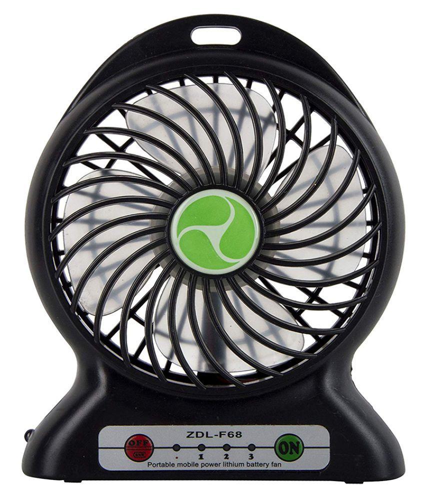 Gizmobitz Mini Fan 2600  mAh Li Ion Power Bank White