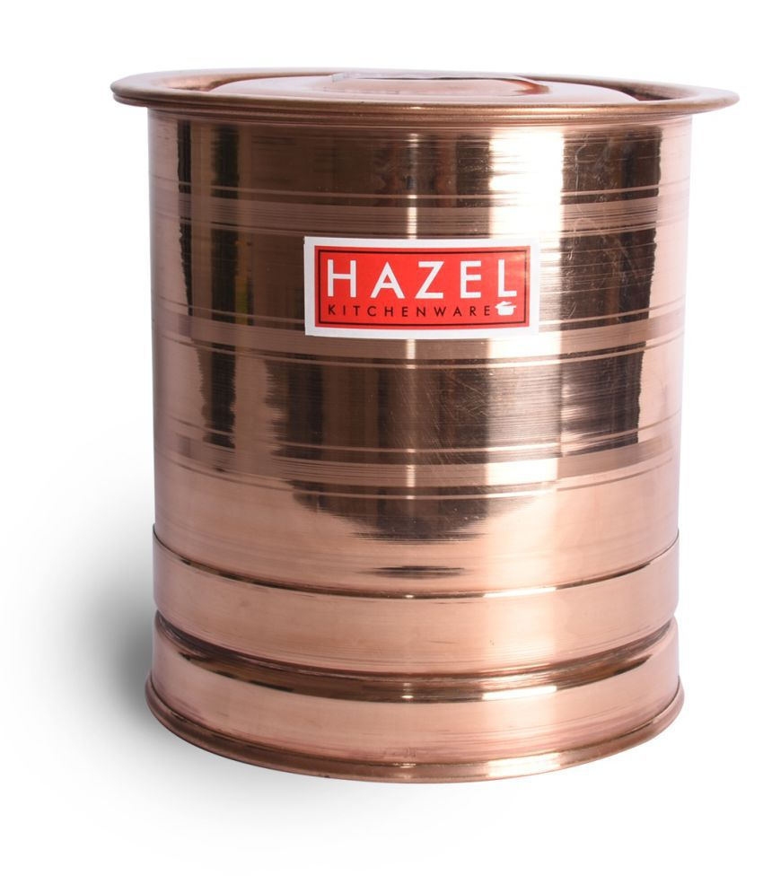 Hazel Pawali Tank Copper Water Container Set of 1 3000 ml
