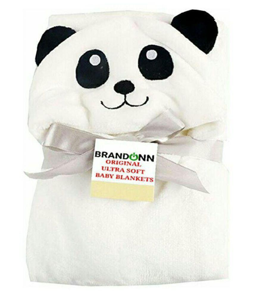 Kanha Creation White Fleece Baby Wrap cum blanket ( 25 cm × 22.4 cm - 1 pcs)
