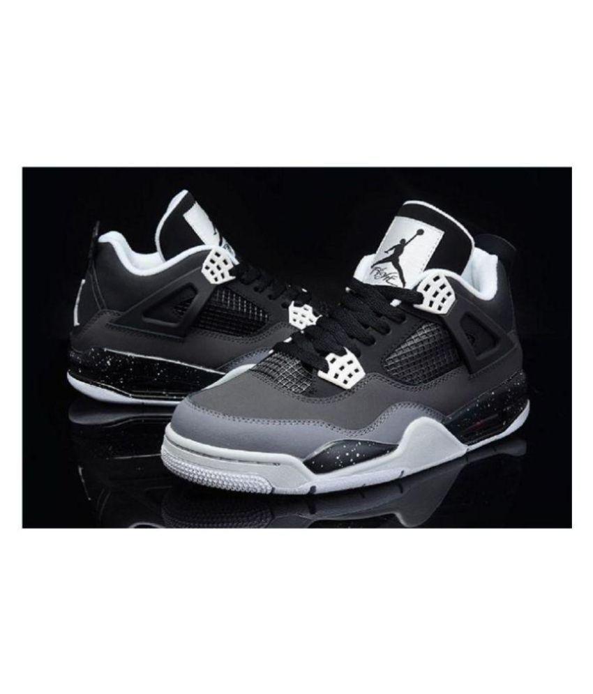 separation shoes 22287 9fd09 Nike Air Jordan Retro 4 Black Running Shoes