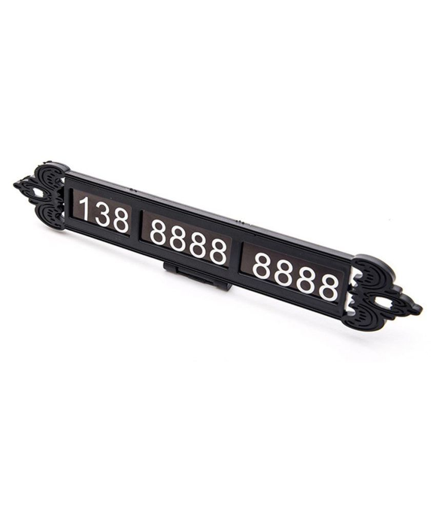 Luminous Temporary Car Parking Card Phone Number Plate Notification Car  Styling