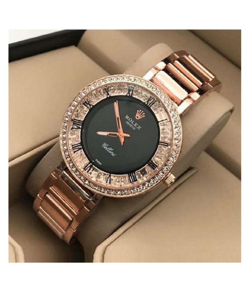Luxury Time Stainless Steel Round Womens Watch