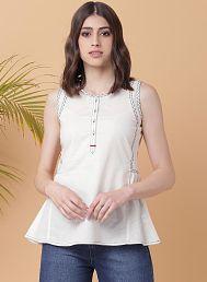 901d8f155da Off White Color Womens Kurtis  Buy Off White Color Womens Kurtis ...