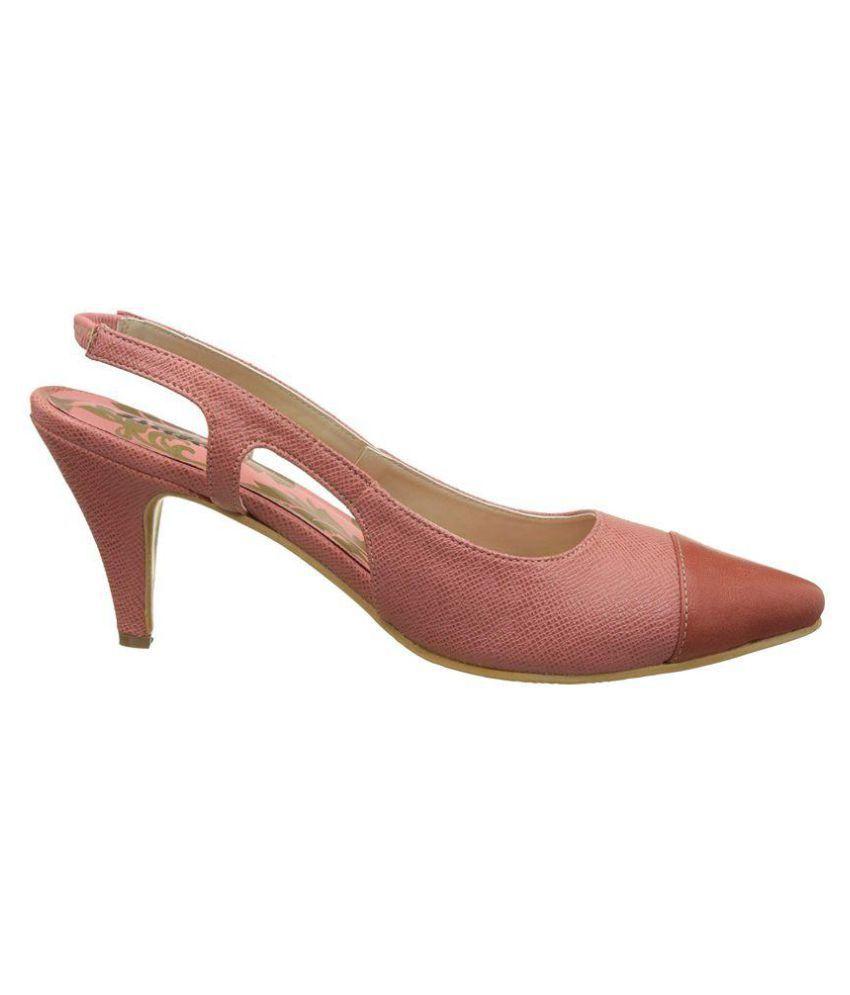Bata Pink Cone Heels