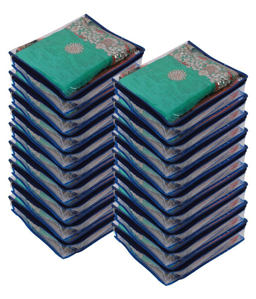 Aashi Blue Saree Covers - 18 Pcs