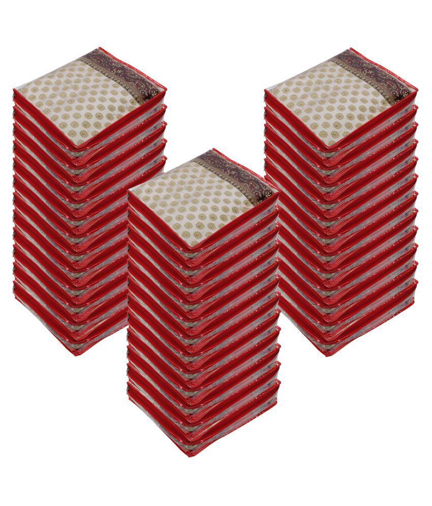 Aashi Red Saree Covers - 36 Pcs