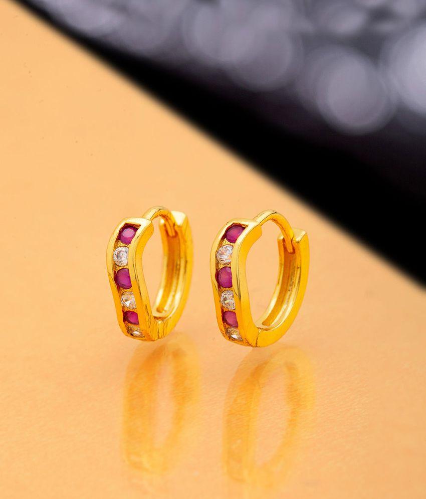 Voylla Twice Nice Micro Hoop Earrings