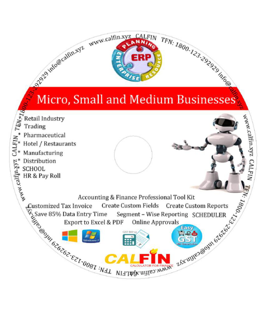 CALFIN GST Accounting Software 32/64 Bit ( Activation Card )