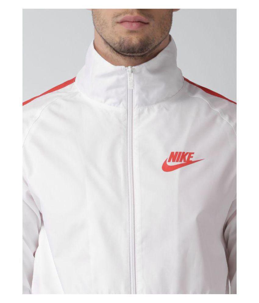 Nike White Polyester Tracksuit - Buy