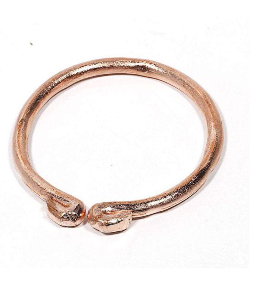 RUDRA DIVINE 5mm Copper Tube Design Open Ended Adjustable Kada Bangle,Fashionable Copper Kada for Men and Women