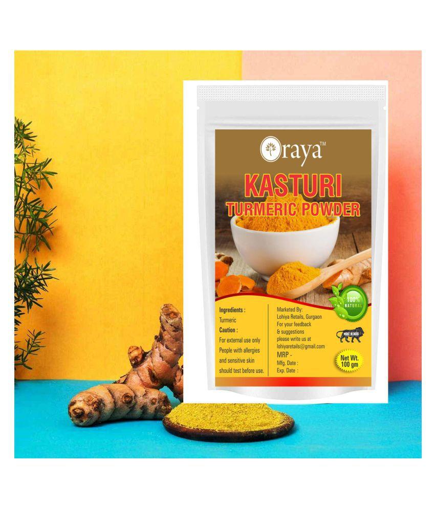ORAYA 100% Haldi Pure Wild Turmeric Powder Face Pack 100 gm