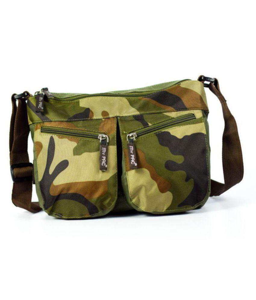 My Pac DB Vivaa Polyester Khaki Polyester Casual Messenger Bag