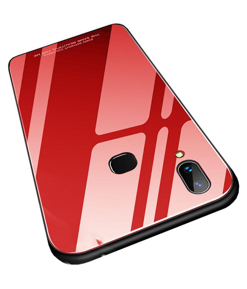 Vivo V9 Mirror Back Covers Tidal - Red