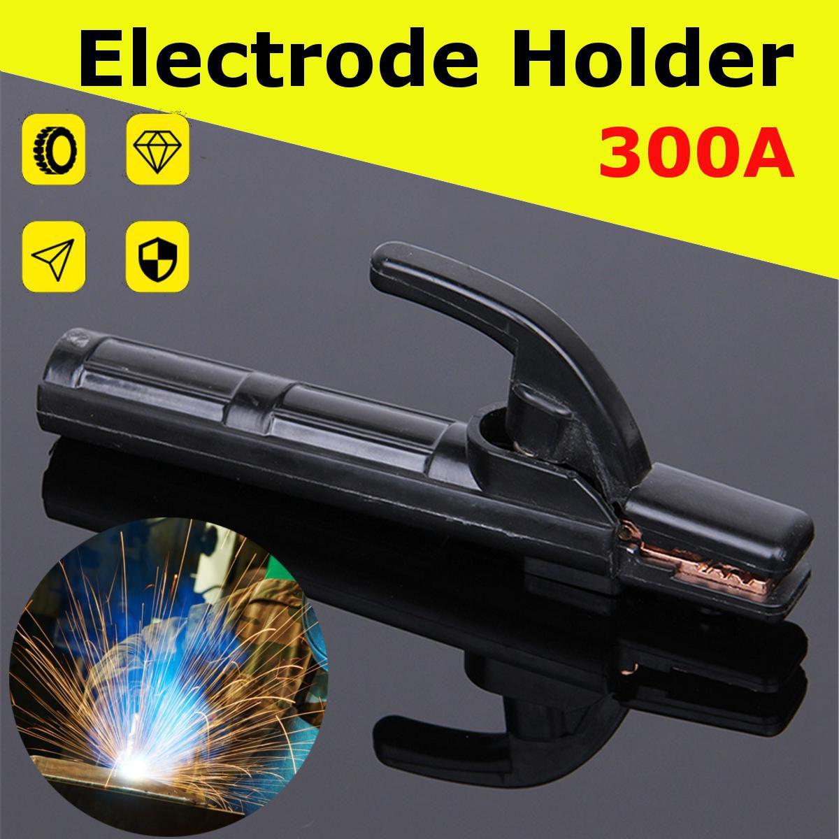 1x Electrode Holder 300A Solder Stick Copper Rod Clamp Tool Heat Resistant