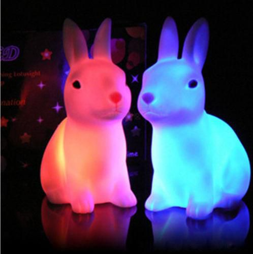 Hot Selling Cute Night Sleeping Lamp Baby Room Cartoon Panda/Rabbit/Dog/Bear Light Kids Bed Lamp for Gifts