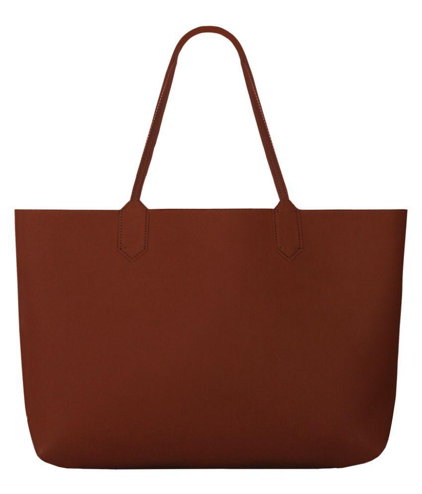 THE HOUSE OF GANGES Orange Faux Leather Shoulder Bag