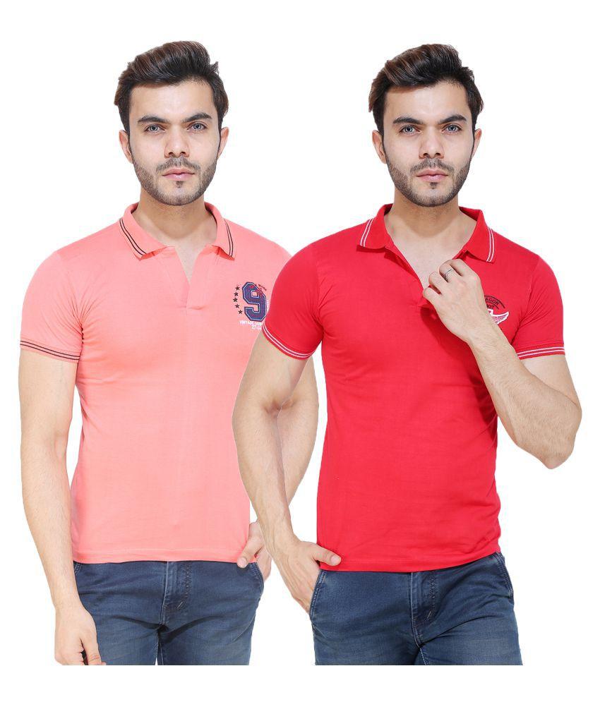 NITYAA Multi Half Sleeve T-Shirt Pack of 2