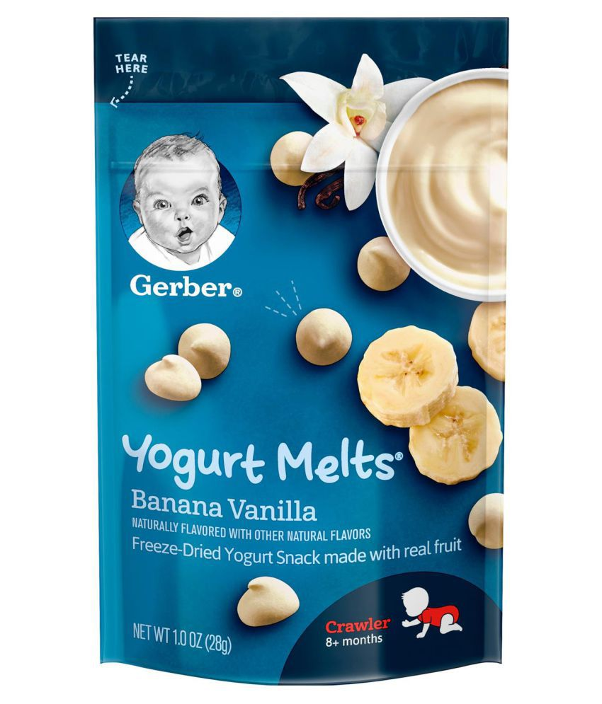 Gerber Banana Vanilla Snack Foods for Under 6 Months ( 56 gm ) Pack of 2