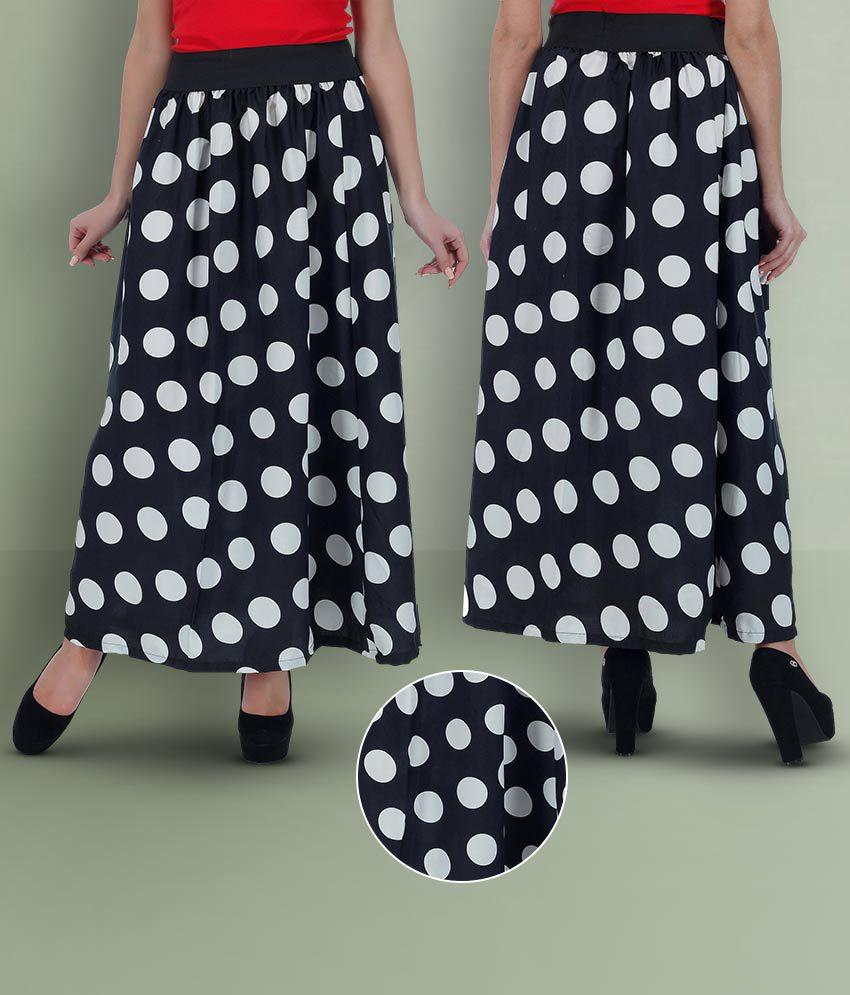 GraceDiva Polyester Straight Skirt - Black