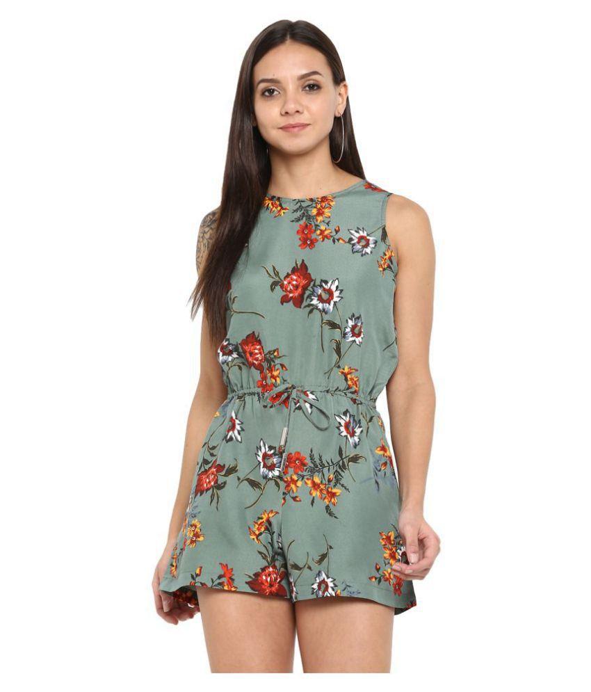 Purys Multi Color Polyester Jumpsuit