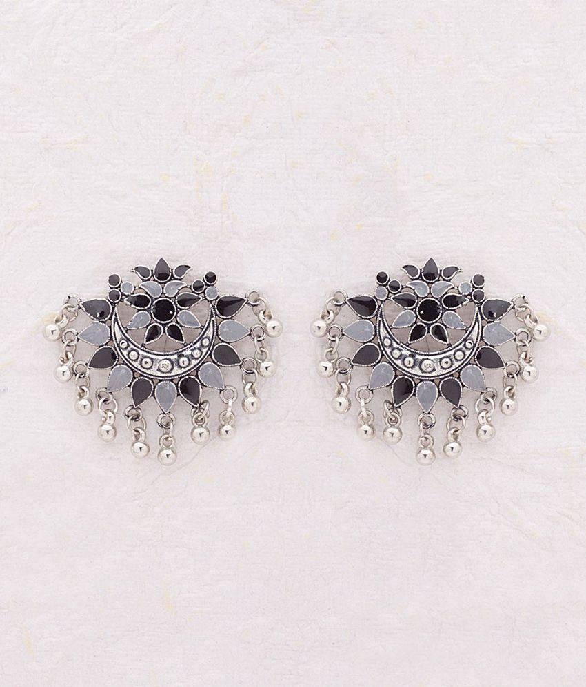Voylla Varna Designer Earrings with Crescent Motif