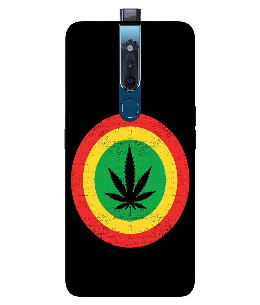 Oppo F11 Pro Printed Cover By Digi Swipes Marijuana is Love Premium Quality Mobile Back Cover and Cases Raised Lip for screen protection.