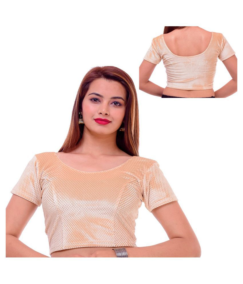 73263262de6167 RAJA Gold Net Readymade with Pad Blouse - Buy RAJA Gold Net Readymade with Pad  Blouse Online at Low Price - Snapdeal.com