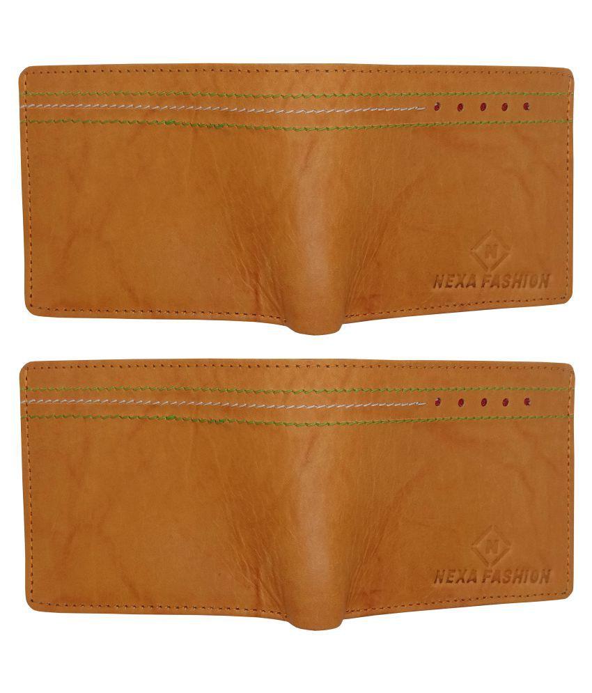 Nexa Fashion Leather Tan Casual Regular Wallet