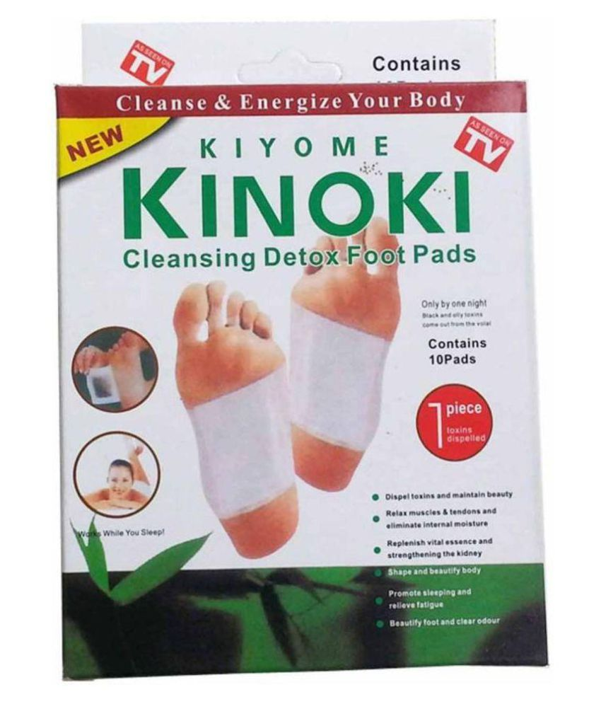 Kinoki Cleansing Detox Foot Pads-10Pcs, White & Gold Cleansing foot treatment Free Size