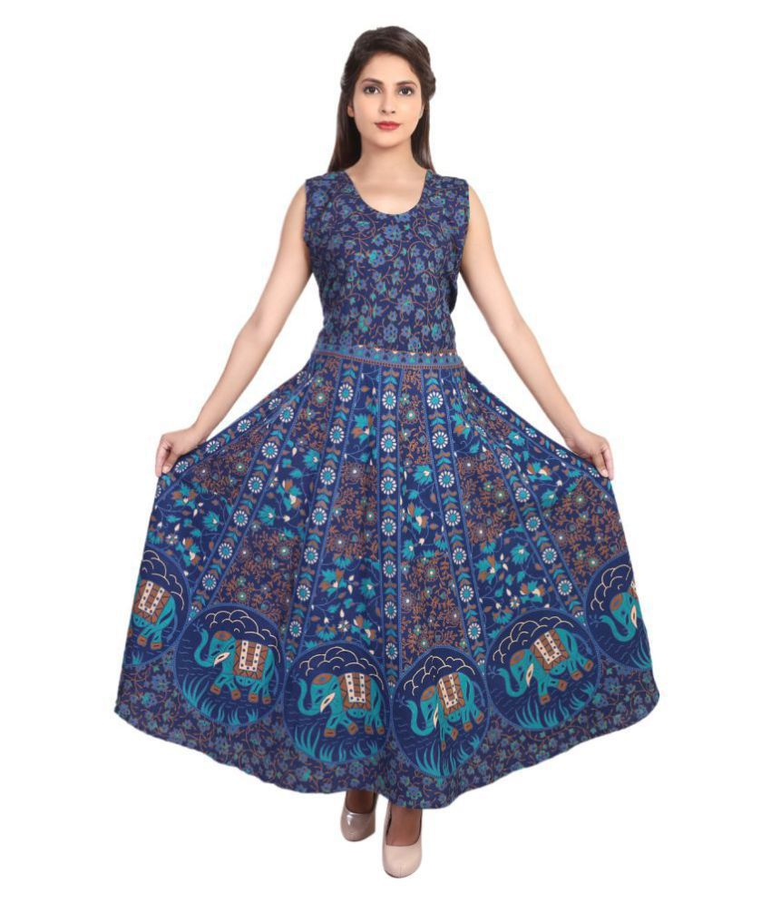 3532c10e1b31 Magnus Cotton Blue Dresses - Buy Magnus Cotton Blue Dresses Online at Best  Prices in India on Snapdeal