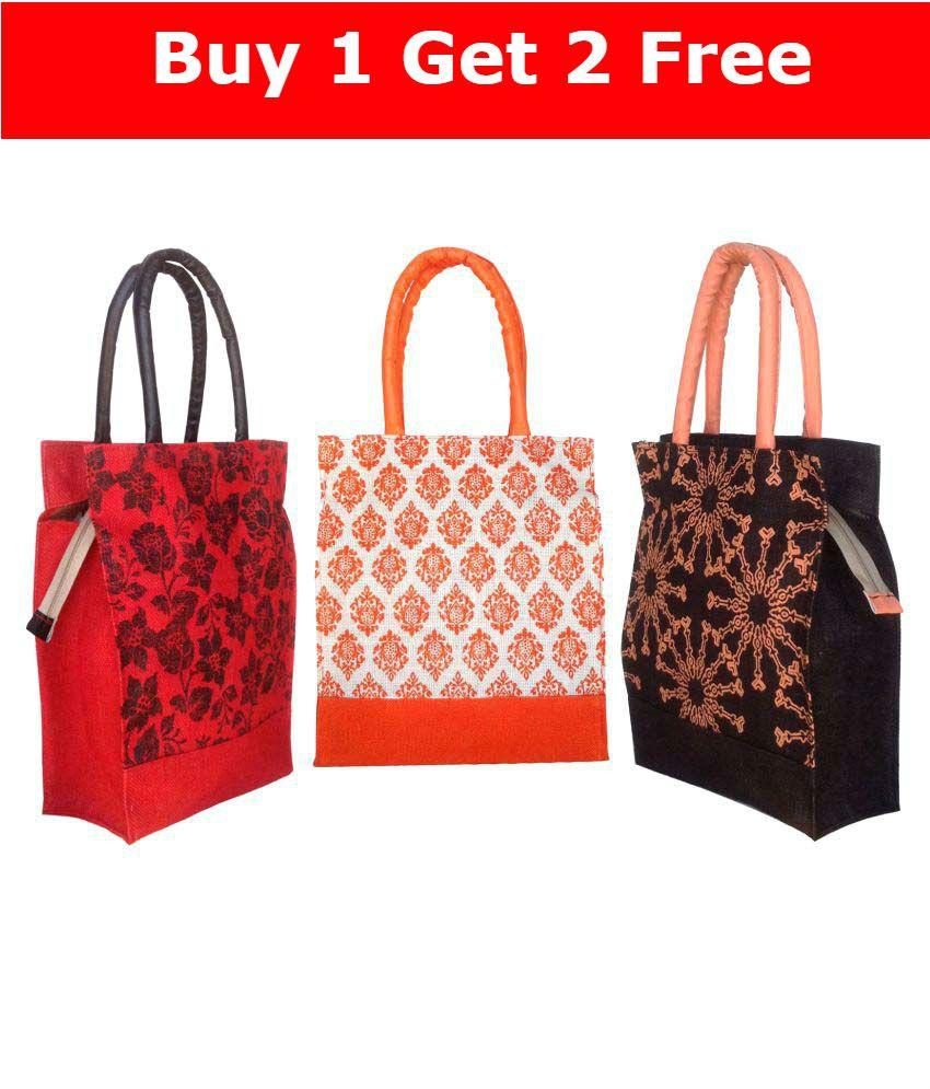 72fdf4b07 Foonty Jute Lunch Bag - Buy Foonty Jute Lunch Bag Online at Low Price -  Snapdeal