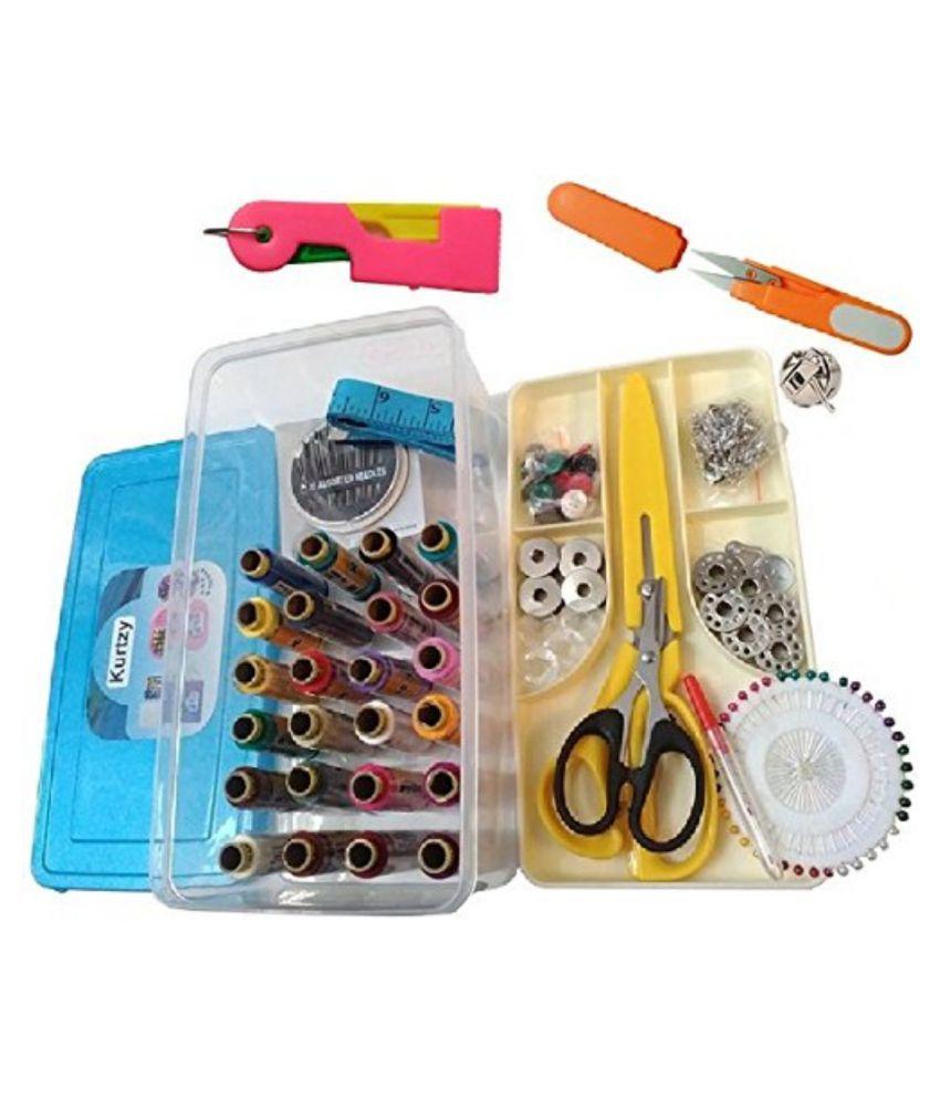 DIY Crafts Sewing Kits Needle Threader Trimmer Threads Needles Bobbins Scissors