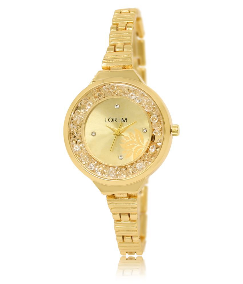 Lorem Metal Round Womens Watch