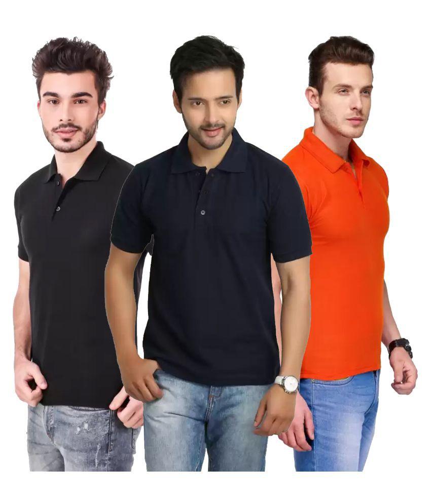 keoti Orange Half Sleeve T-Shirt Pack of 3